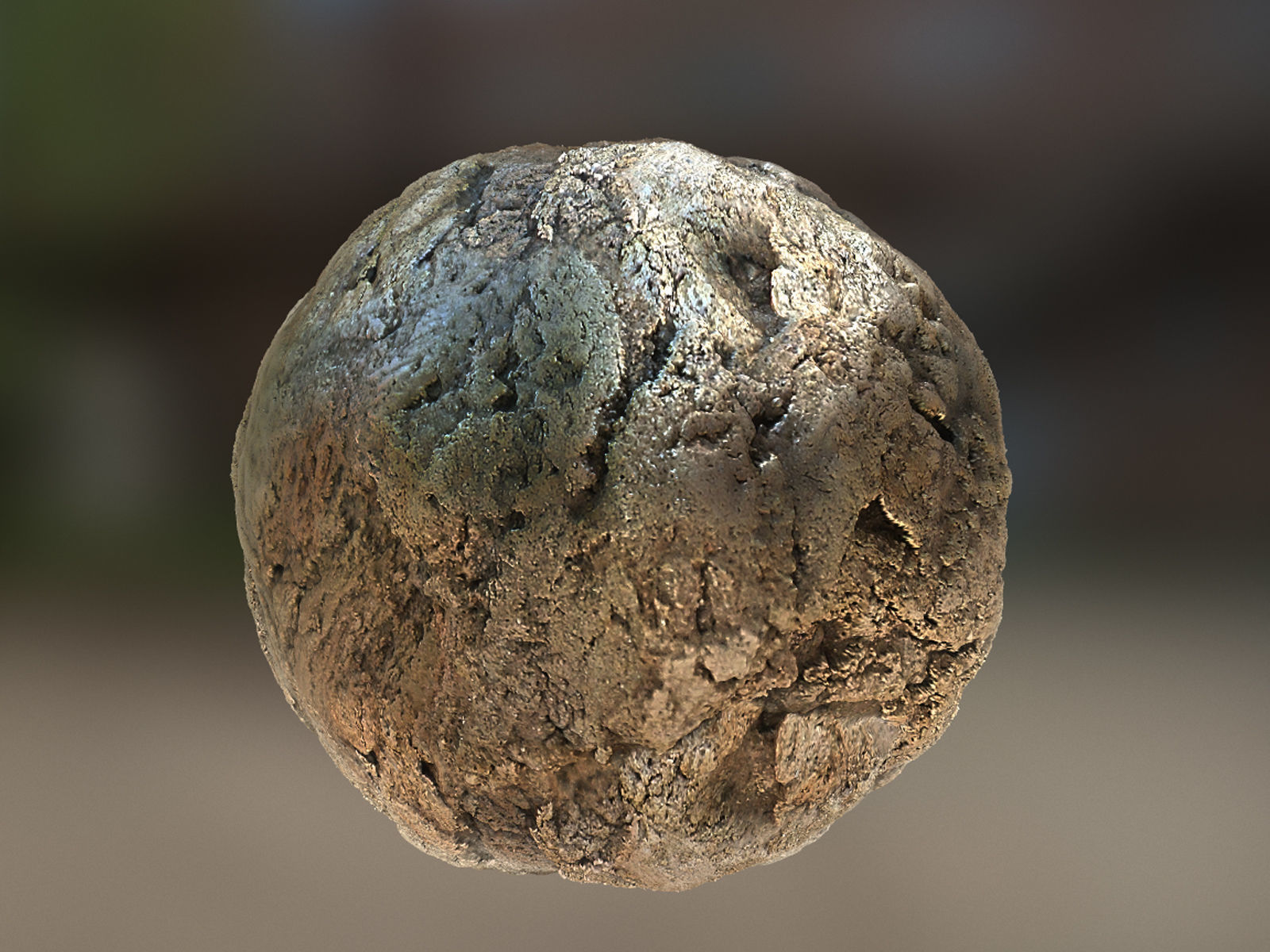 PBR Material Texture set 017 Clay Ground Silver