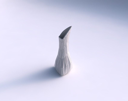 3d printable model vase puffy tappered triangle with random triangle plates