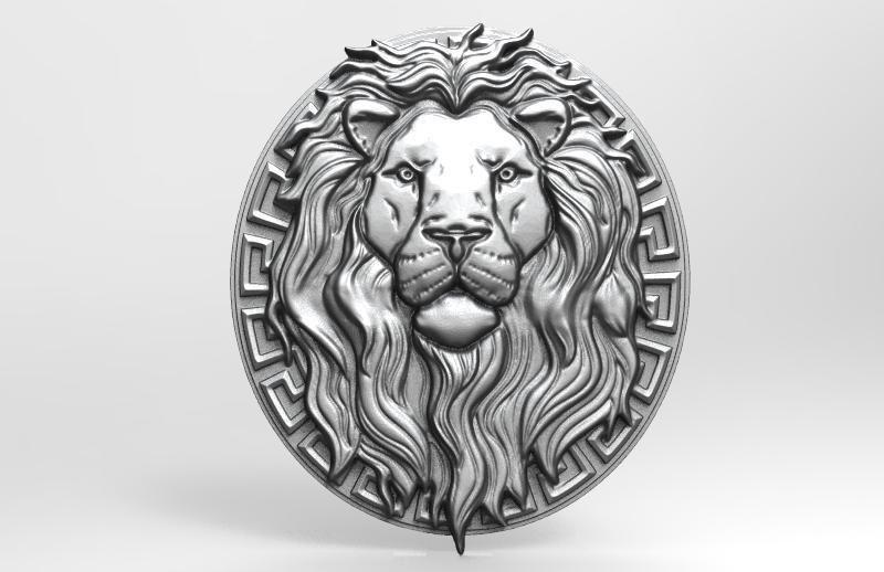 Lion bas-relief 3 CNC