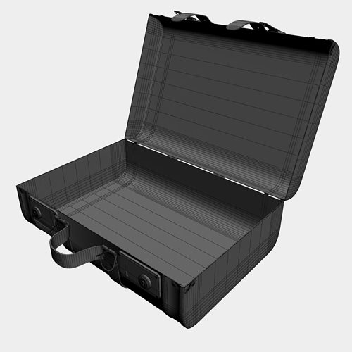 86fc1f3c57b6 Old suitcase set 3D Model MAX OBJ 3DS C4D MTL CGTrader com