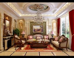 3d deluxe living room