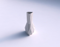 vase puffy triangle with triangle plates 3d print model