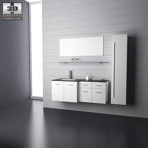 bathroom furniture 09 set 3d model low-poly max obj 3ds fbx c4d lwo lw lws 1