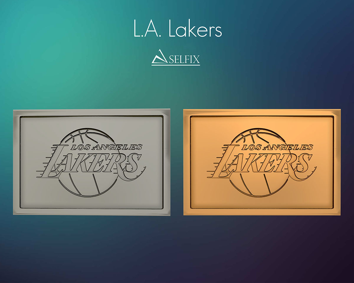 Los Angeles Lakers  logo relief