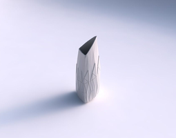 3d print model vase tipped triangle with partial random triangle plates