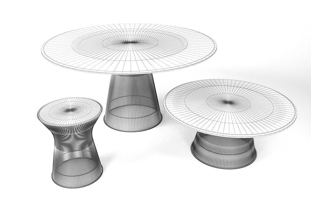 ... Knoll Platner Coffee Tables 3d Model Max Obj Fbx 6