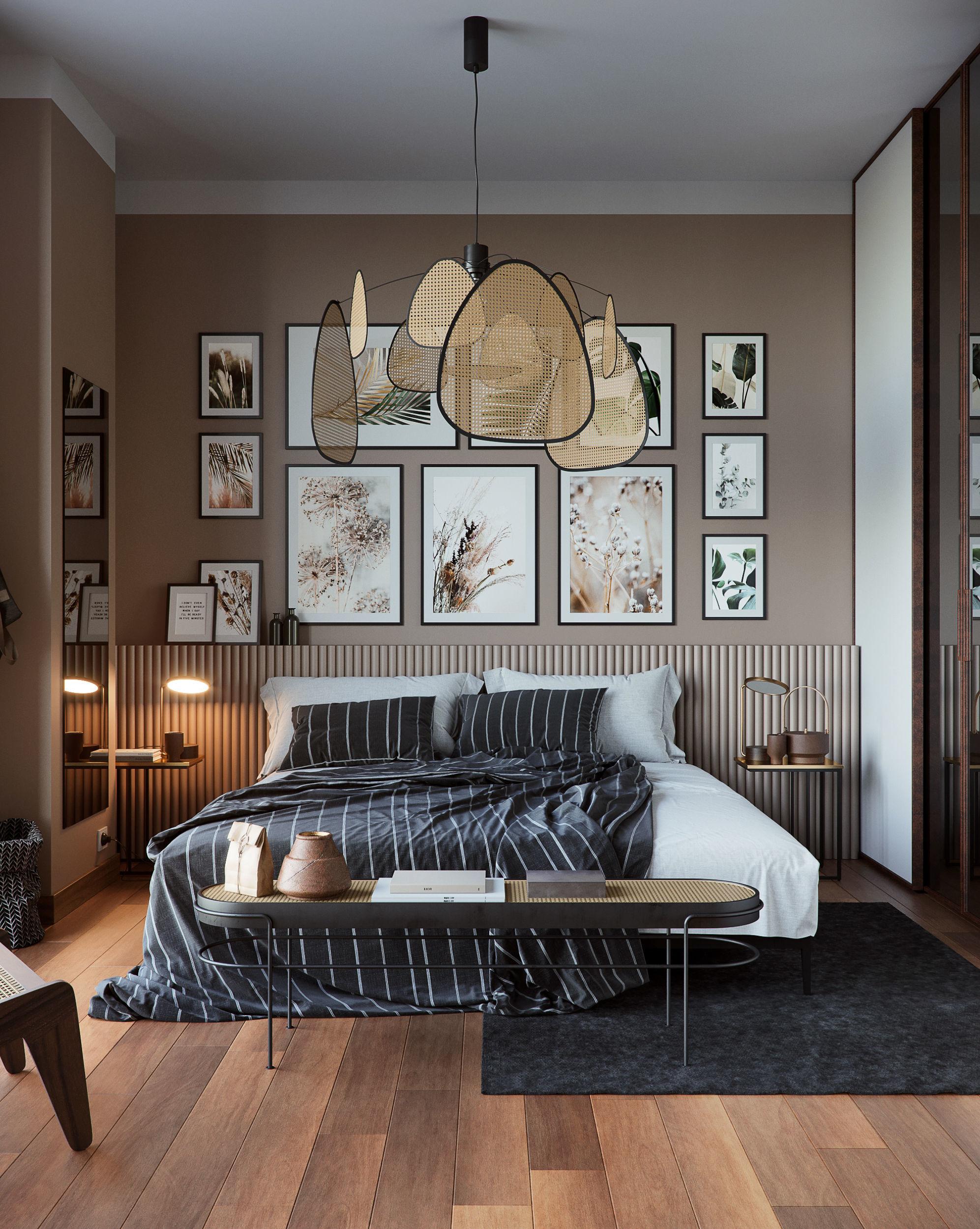 Vienna straw bedroom interior scene
