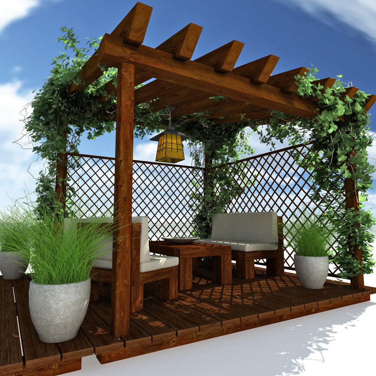 Pergola Garden 3d Cgtrader