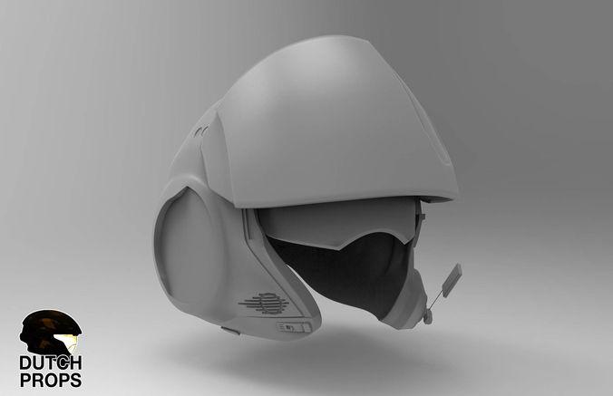 star wars episode 7 pilot helmet for 3d print 3d model obj 1