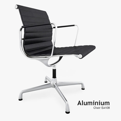 3d model vitra aluminium chair ea 108 cgtrader. Black Bedroom Furniture Sets. Home Design Ideas