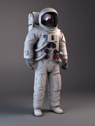 nasa astronaut apollo 3d model rigged max obj mtl 3ds fbx c4d lwo lw lws 1