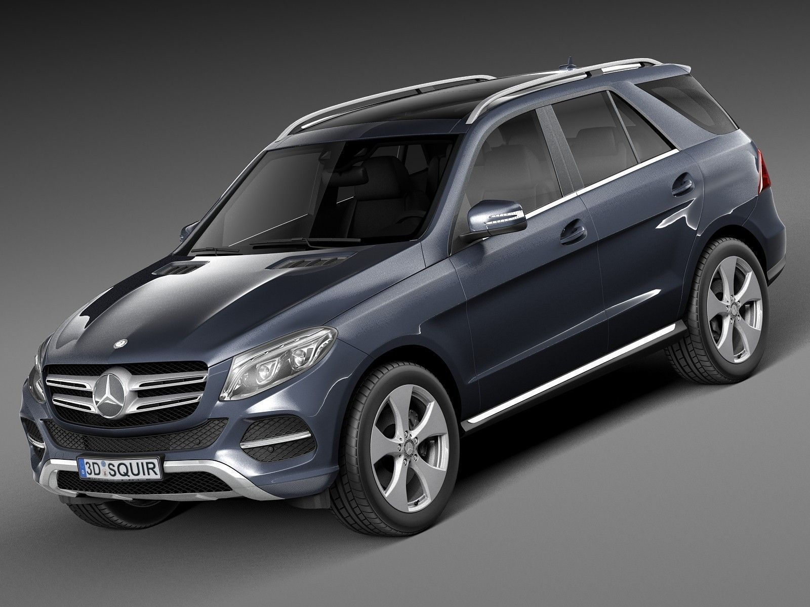 mercedes benz gle 2016 3d model max obj 3ds fbx c4d lwo lw