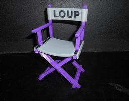 3d print model chaise cinema