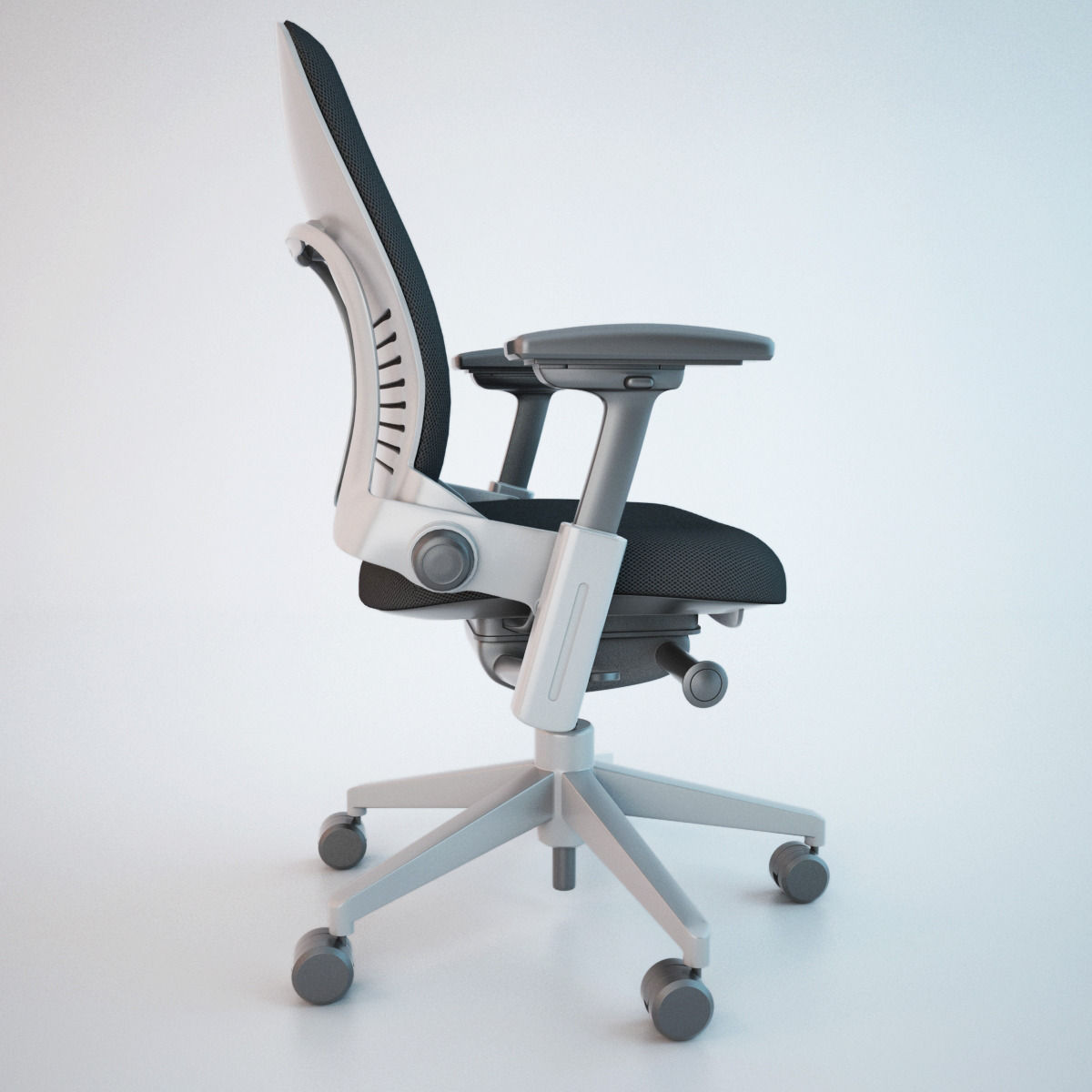 steelcase leap office chair 3d model cgtrader