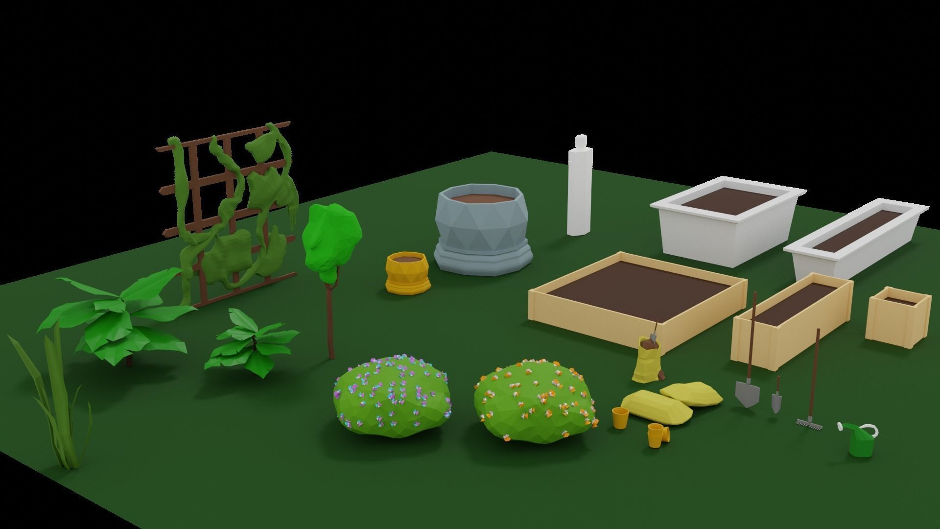 Gardening Plants and Accessories Pack