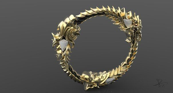 The Elder Scroll Ring 3d Print Model Cgtrader