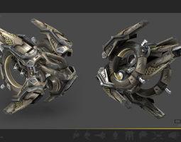 3d model game-ready drone v9 scifi
