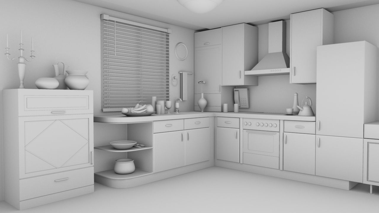 Rehman Kitchen Interior 3d Cgtrader