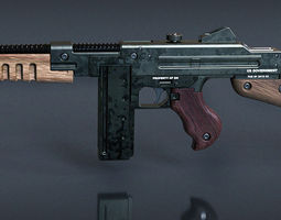 3D print model Wolfenstein The New Order SMG