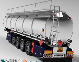 3D model Fuel Tanker Chromed