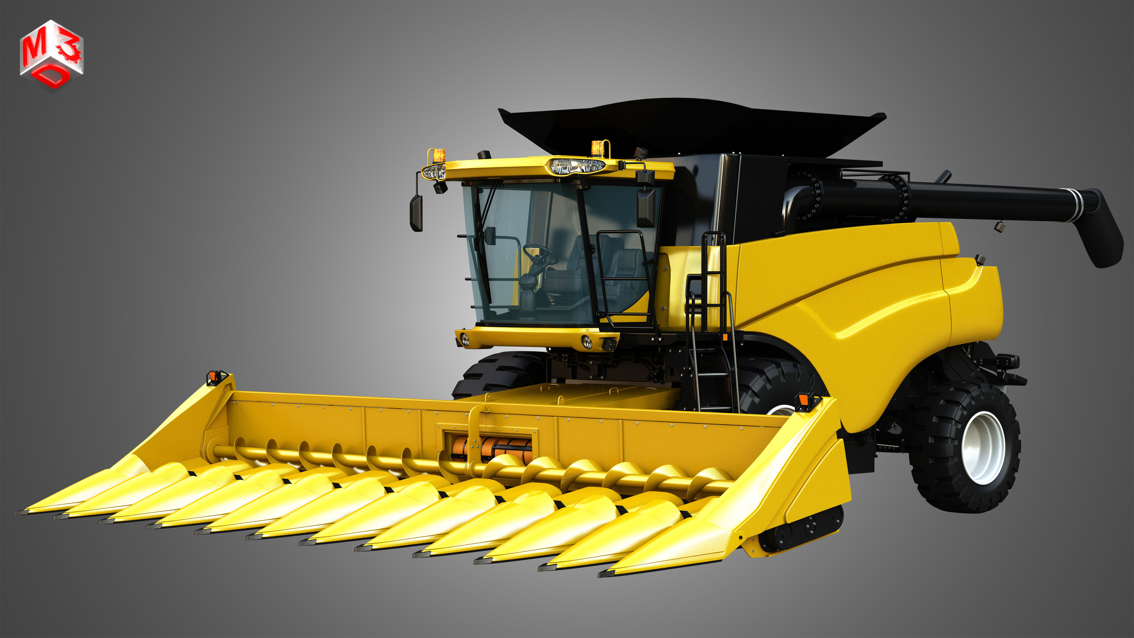 NH - CR 9070 Combine Harvester - With Corn Harvester Head