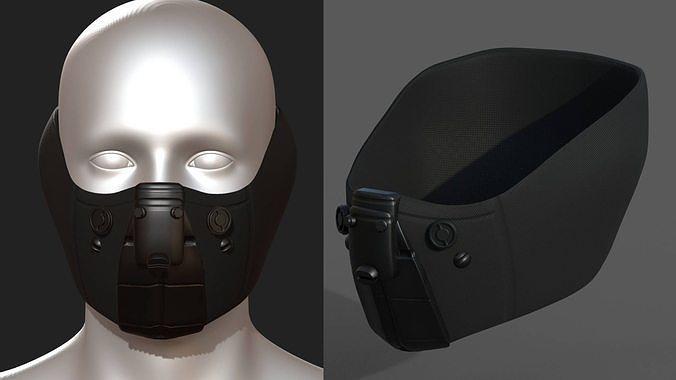 Gas mask respirator scifi futuristic 3d