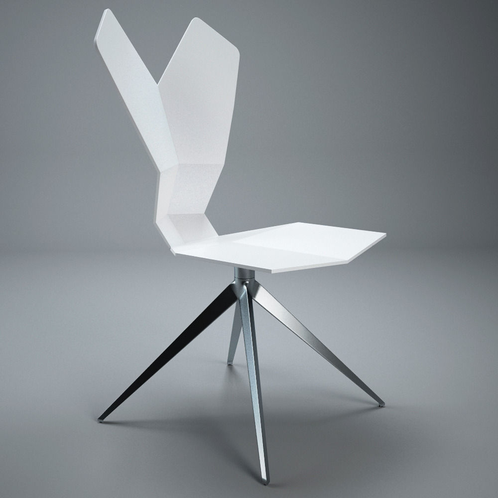 Tom Dixon Y Chair 3d Model Cgtrader # Muebles Tom Mobel