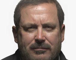 3D model Realistic Male Head