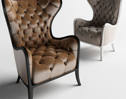 Medea prestige Tufted Chair and Armchairs 3D print model