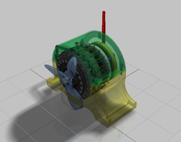 3D model Magnetic Pulse Engine Prototype Design