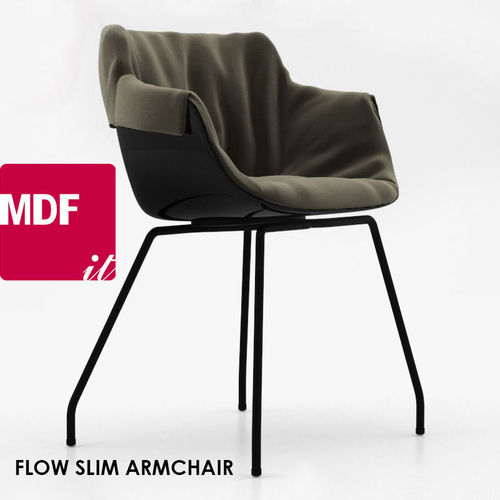 mdf italia flow slim armchair 3d model cgtrader. Black Bedroom Furniture Sets. Home Design Ideas
