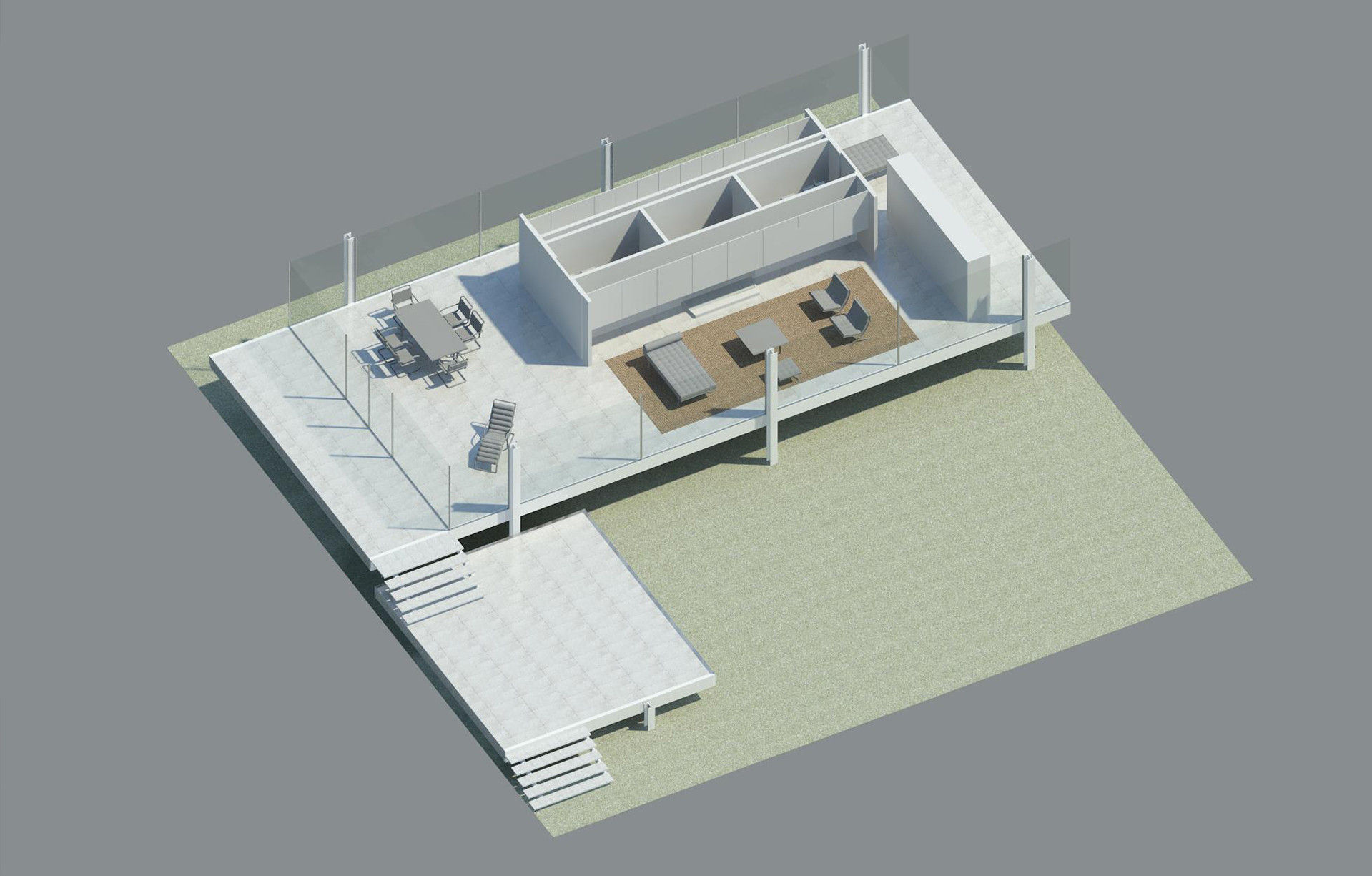 Farnsworth House Model Fbx Dwg Rvt Cgtrader
