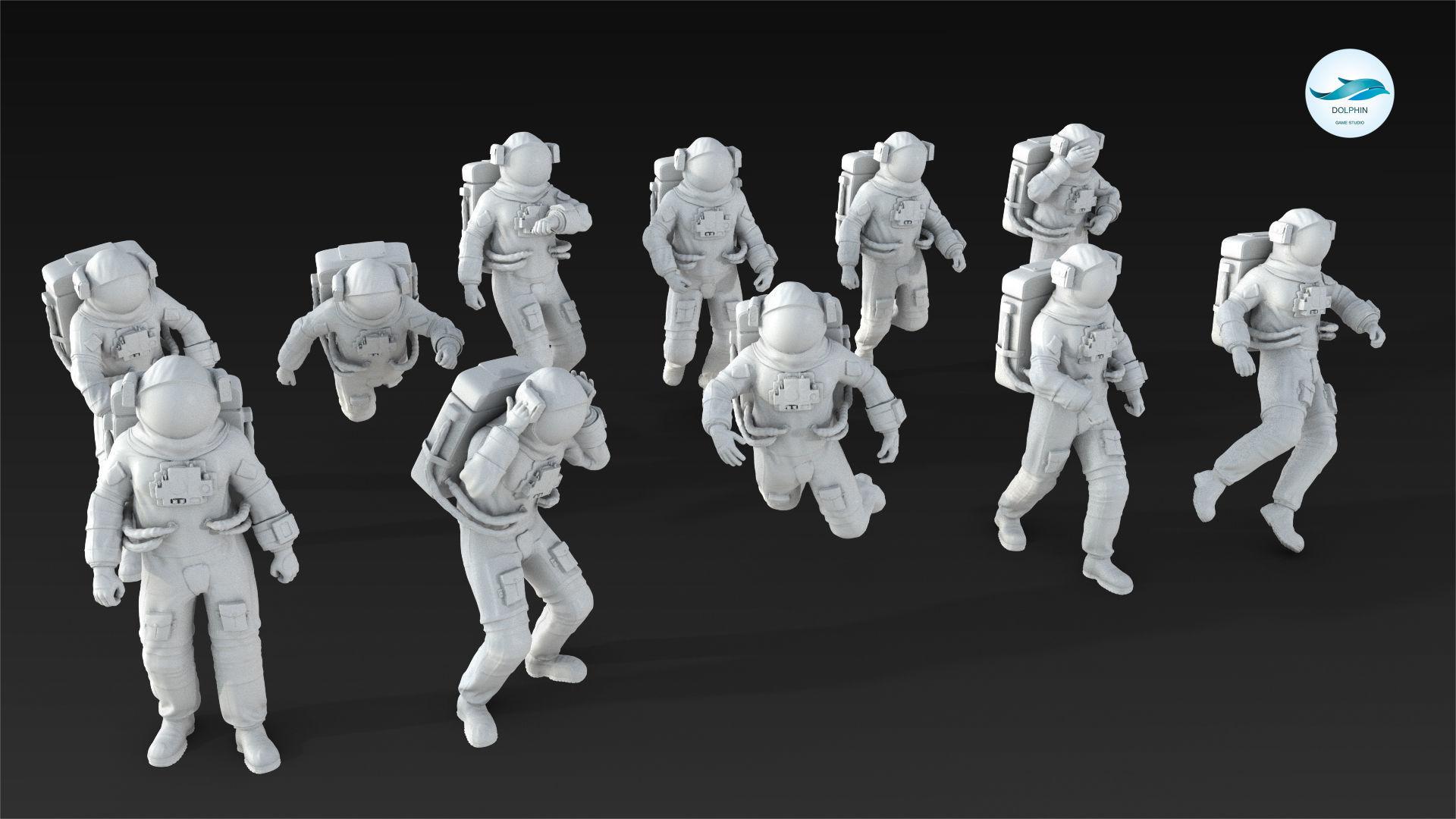 10 Astronaut Figure Set