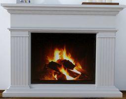Modern Fireplace 3D model