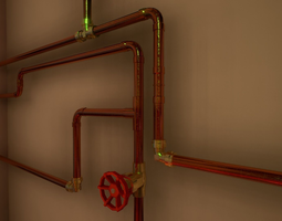 3D asset Pipes and ventilations