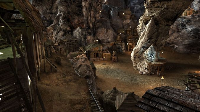complex cave t 01  3d model max tga 1