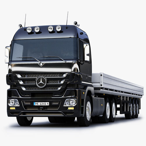 3D model Mercedes Benz Actros Trailer Truck | CGTrader