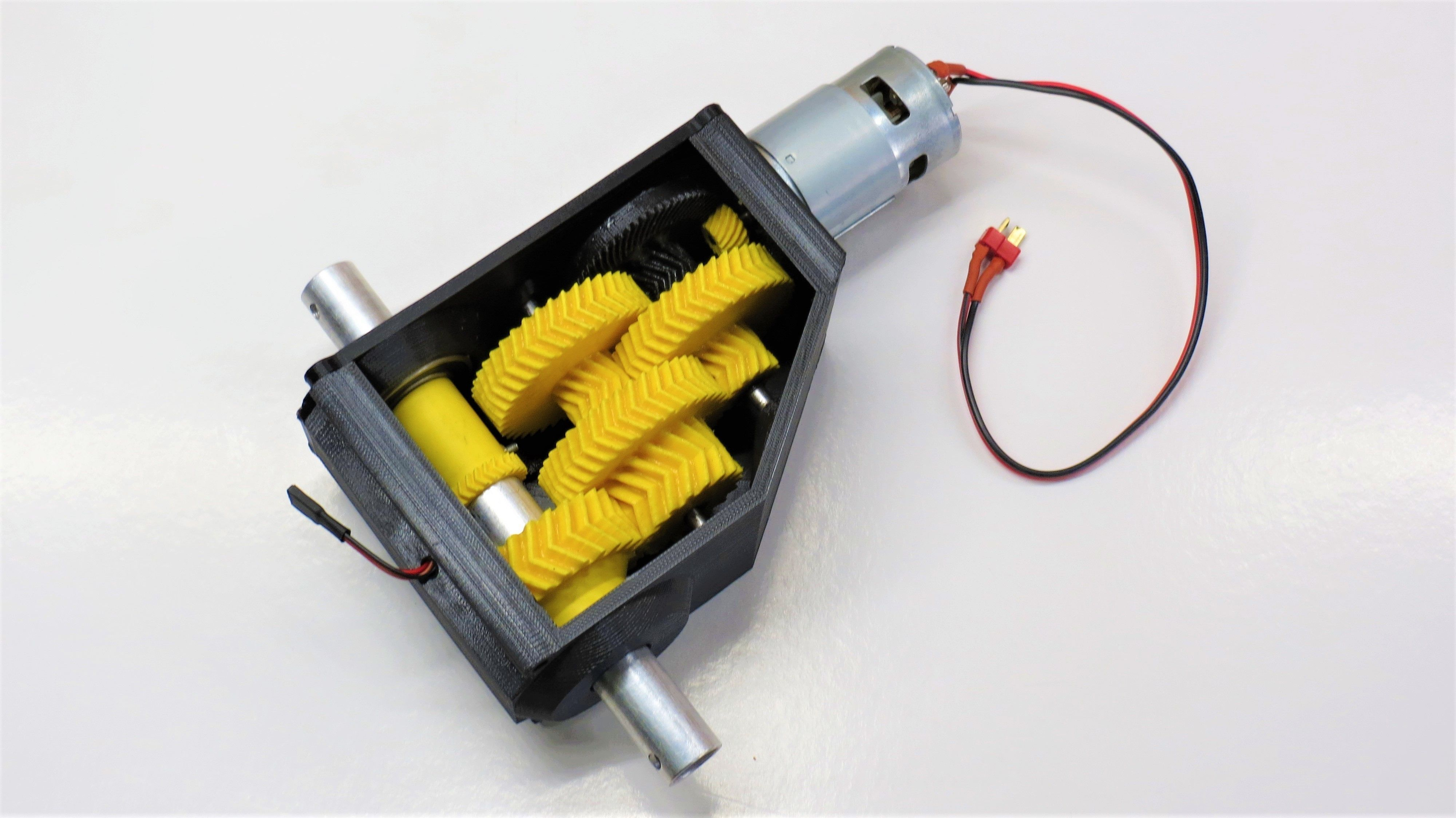 3D-printable high torque servo-gearbox version 2