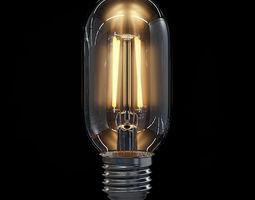 LED Filament Bulb 01 3D Model