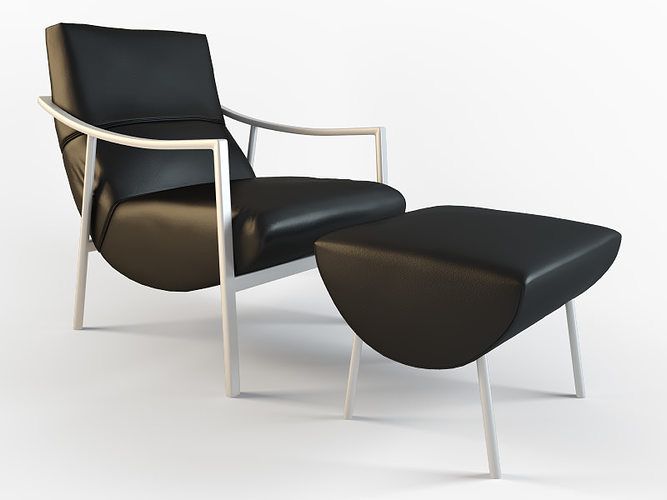 armchair atul amit 3d model max obj mtl 3ds fbx 1