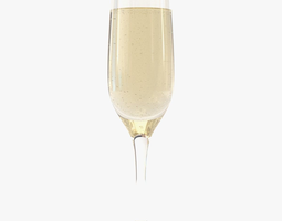 Glass Of Champagne 3D model