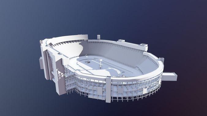 bristol motor speedway arena 3d model obj mtl fbx lwo lw lws stl dae skp 1