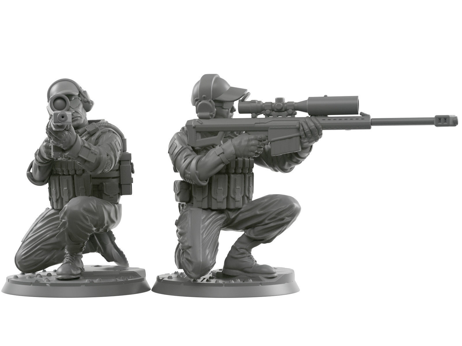 Sniper squad 28 - 40 mm scale