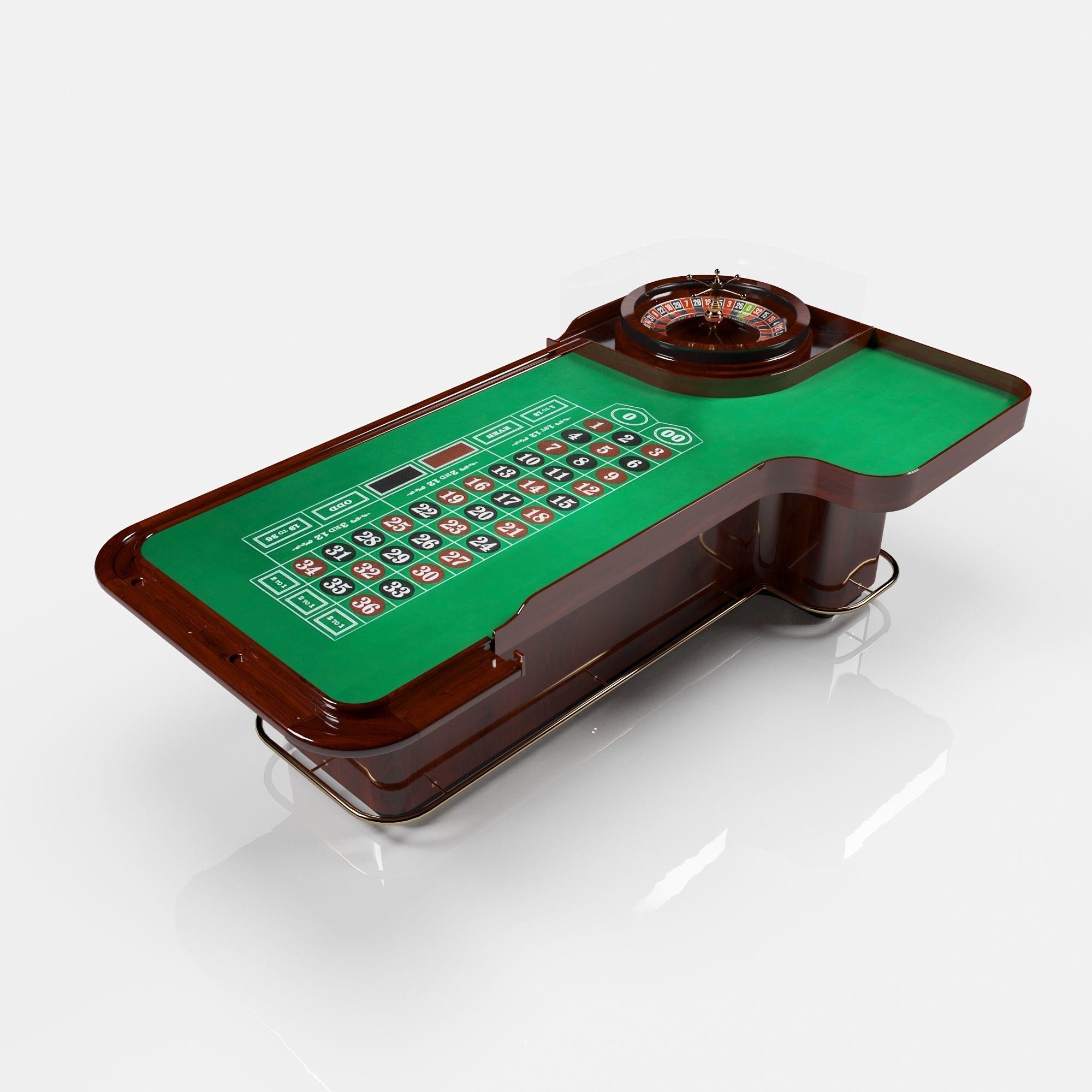roulette table desk round toe
