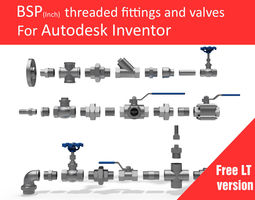 autodesk inventor cad library - piping no 1 lt 3d