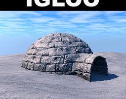 Low poly igloo 3D Model
