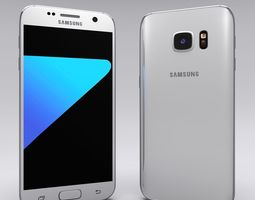 3d asset samsung galaxy s7 white game-ready