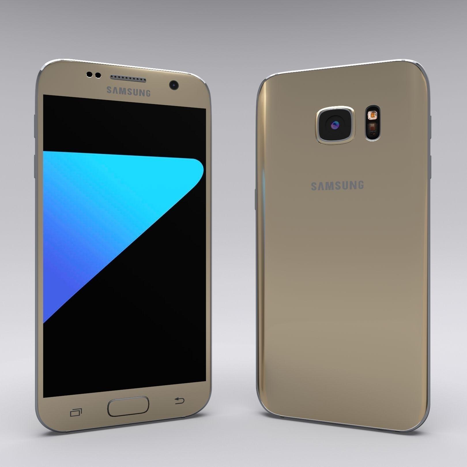 3D Samsung Galaxy S7 Gold | CGTrader