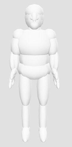 Anotomical THREE js Body simplistic