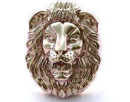 3d printable model lion pendant